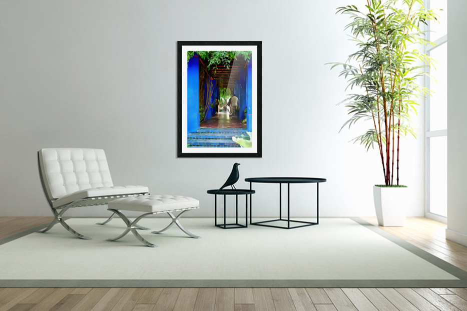 Shady Blue Walkway Marrakech in Custom Picture Frame