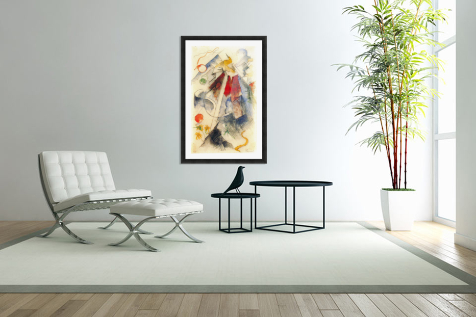 Sketch of the Brenner road -1- by Franz Marc in Custom Picture Frame