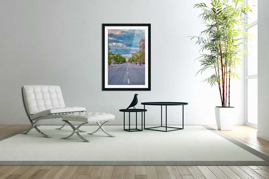 Storm Over Main Street in Custom Picture Frame