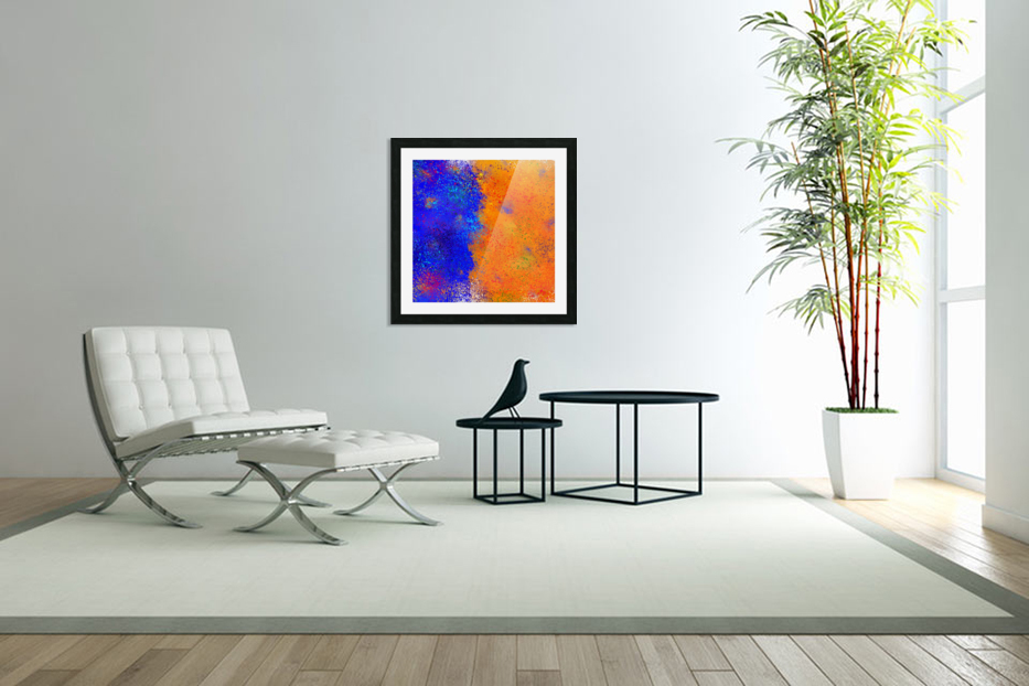 Seisnahorra - orange and blue balanced freedom in Custom Picture Frame