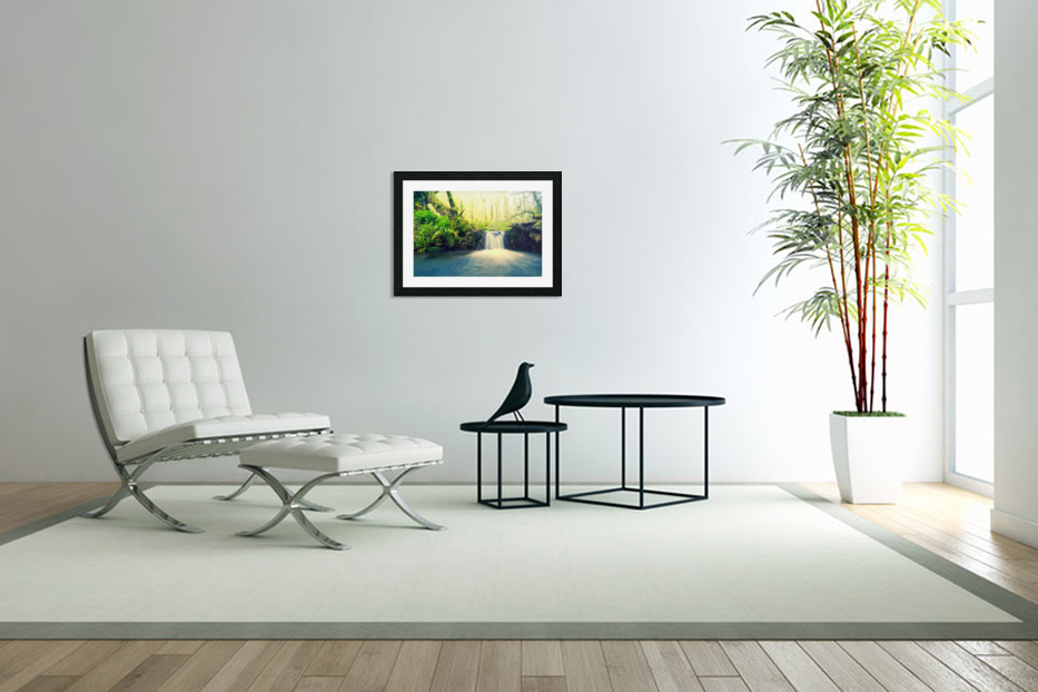waterfall river nature forest  in Custom Picture Frame