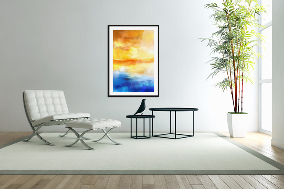 Abstract Warm Sunset I in Custom Picture Frame