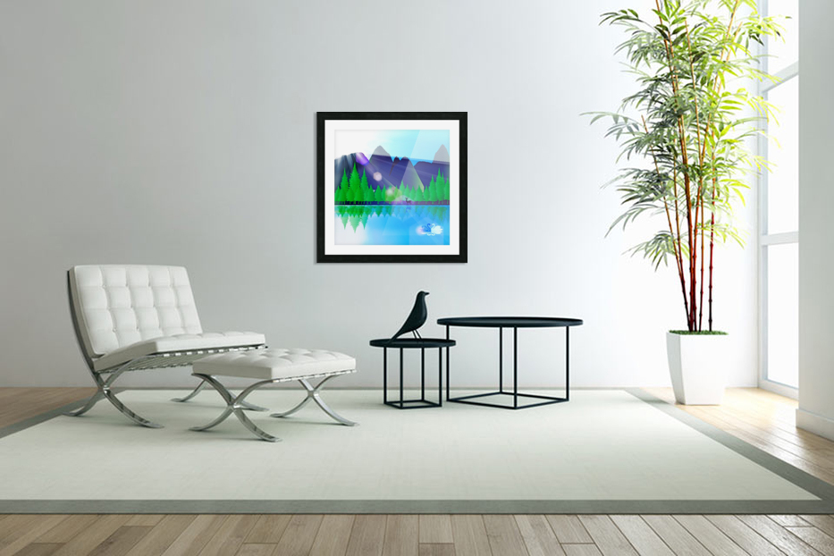 forest landscape pine trees forest in Custom Picture Frame