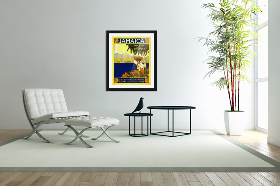 vintage retro poster travel in Custom Picture Frame