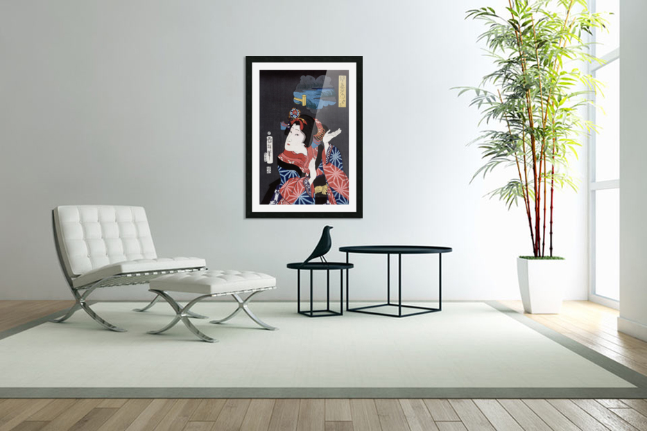 japanese maiden young woman female in Custom Picture Frame