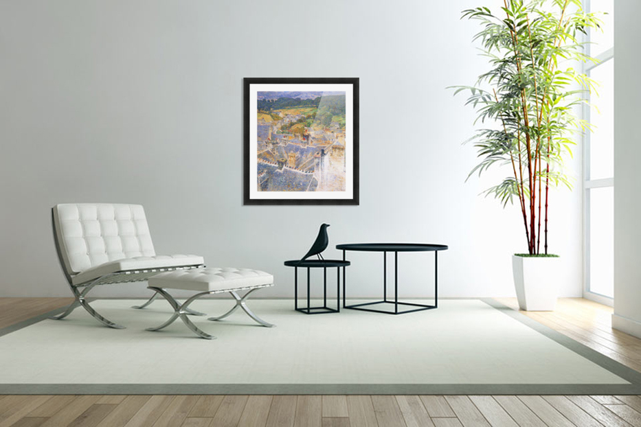 Roofs, Pont-Aven by Hassam in Custom Picture Frame