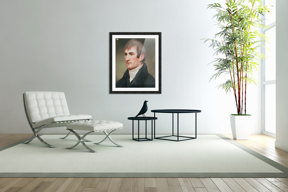Lewis in Custom Picture Frame