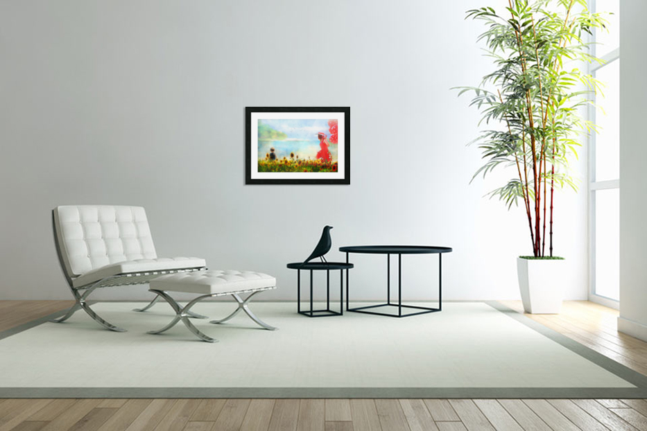 The lake in Custom Picture Frame