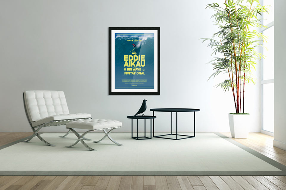2017 QUIKSILVER - EDDIE AIKAU Big Wave Invitational Surfing Competition Print in Custom Picture Frame