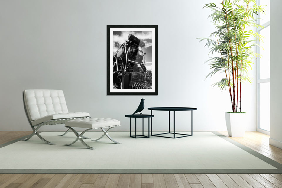 Canadian Steam Locomotive 6015 B in Custom Picture Frame