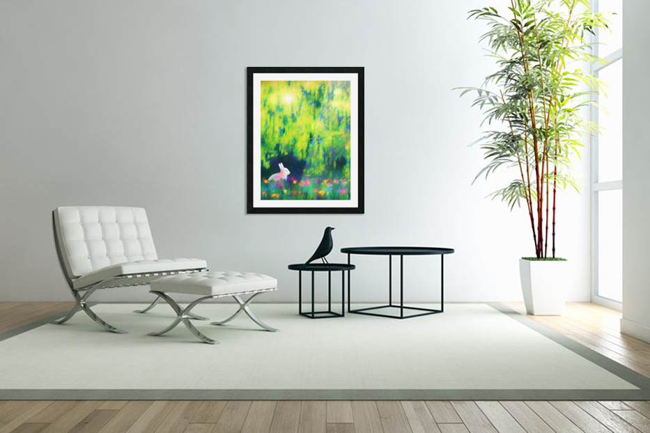 Bunny beneath the Willow Tree in Custom Picture Frame