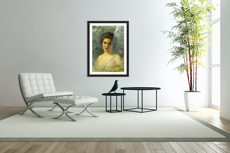 Portrait of a young woman in Custom Picture Frame