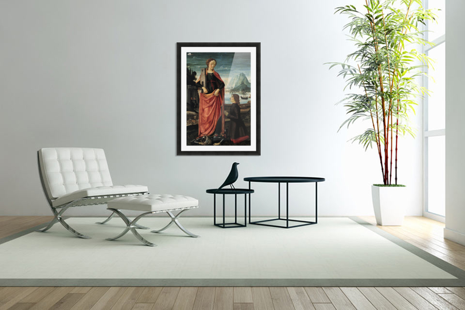 St Barbara crushing her father in Custom Picture Frame