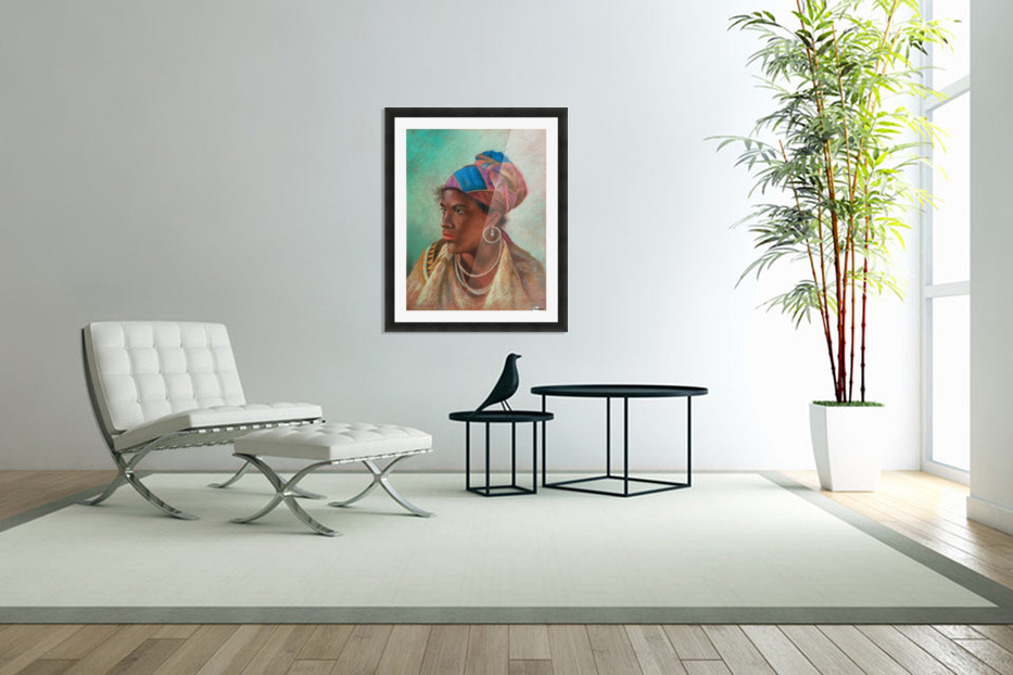 Portrait of a woman in Custom Picture Frame
