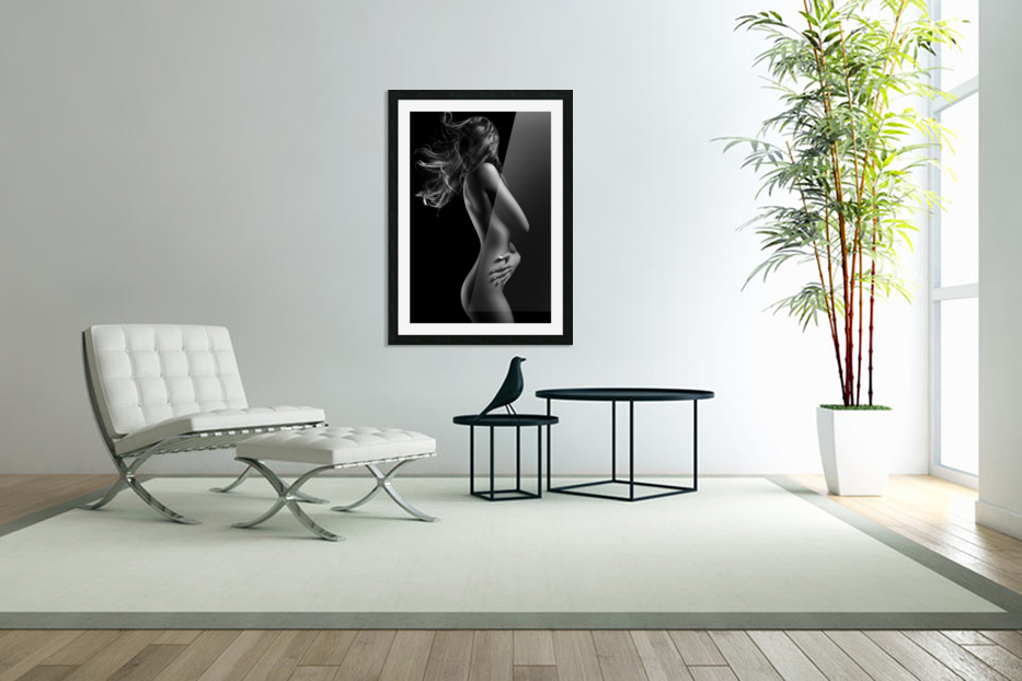 Sensual woman with waving hair in Custom Picture Frame