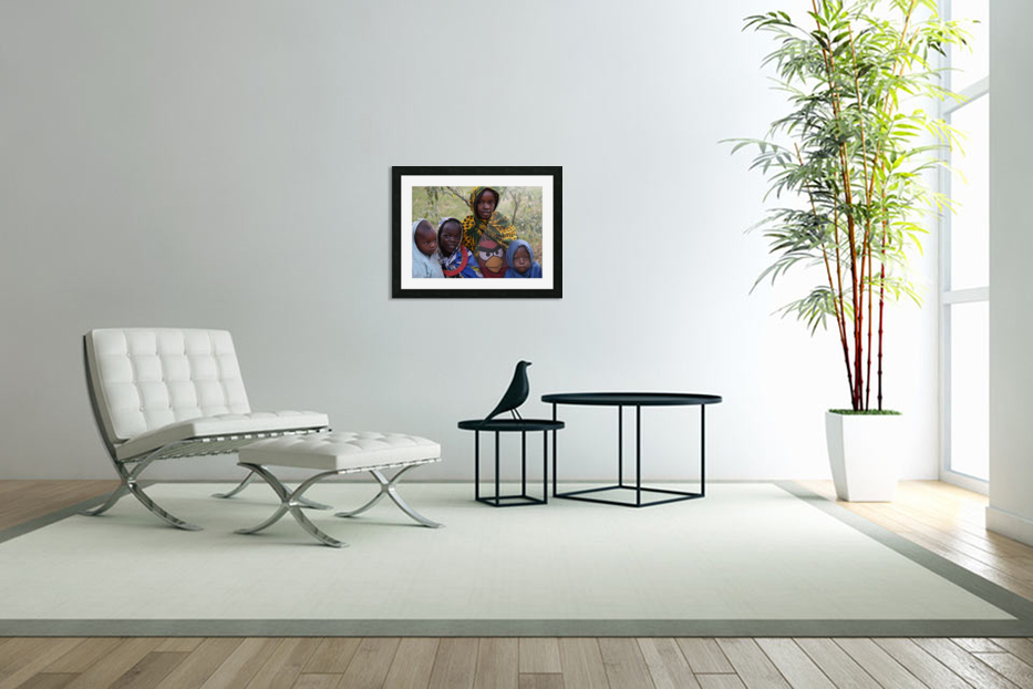 Faces of Africa in Custom Picture Frame