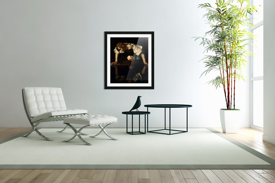 Narcissus in Custom Picture Frame