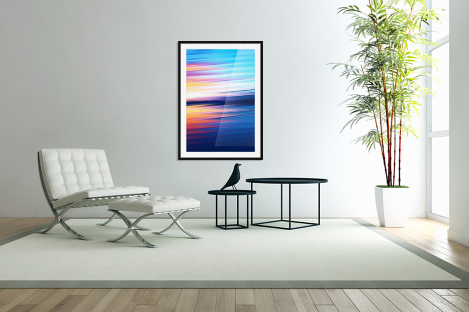 Abstract Sunset XI in Custom Picture Frame