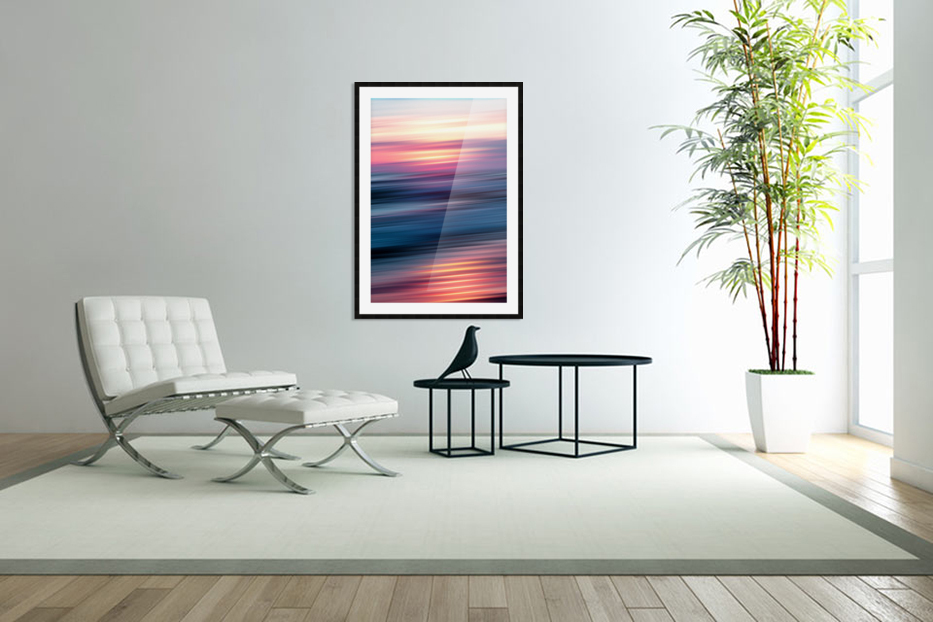 Abstract Sunset XII in Custom Picture Frame