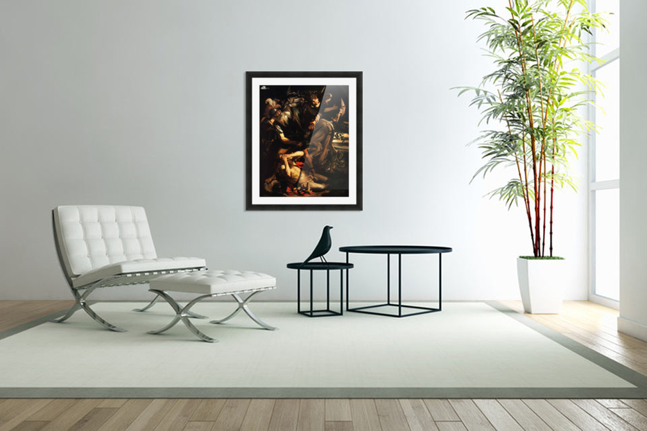 The conversion of Saint Paul in Custom Picture Frame