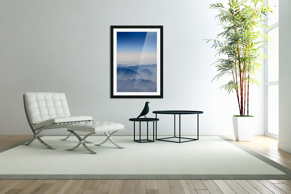 Japanese Mountains in Custom Picture Frame