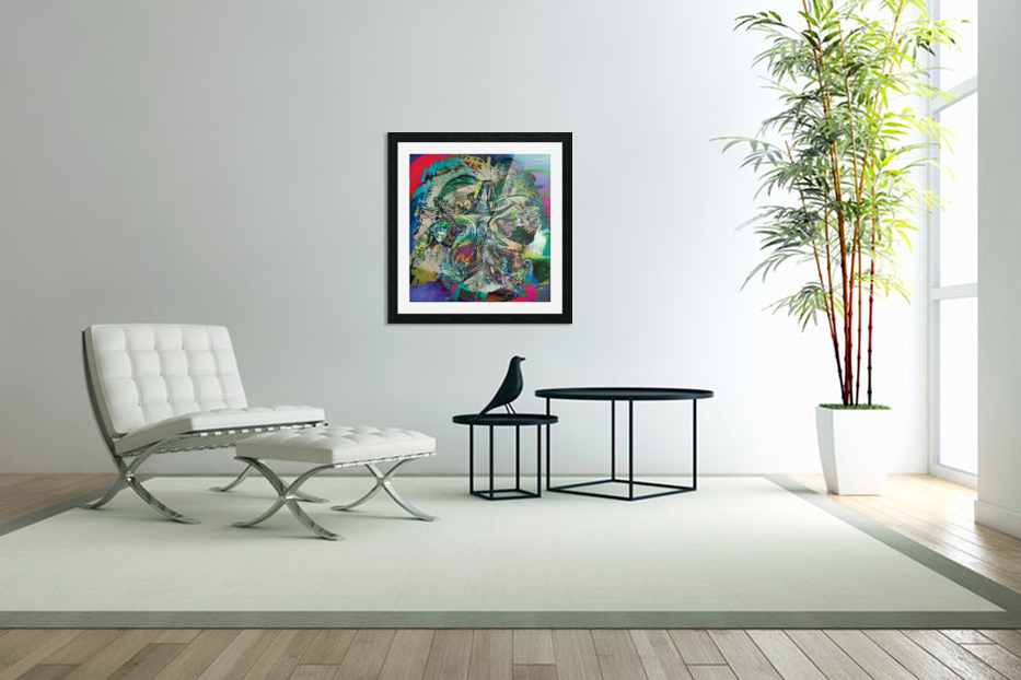 mottled multicolored abstract composition in Custom Picture Frame
