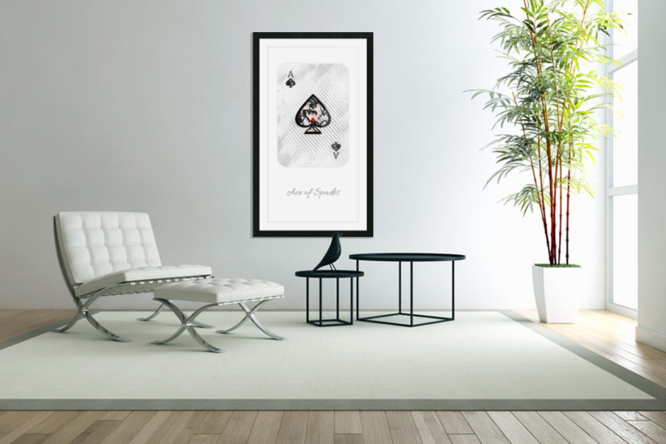 playing cards ace of spades in Custom Picture Frame