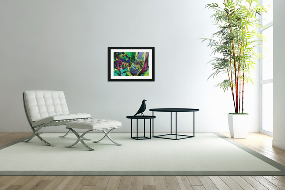 swirling abstract shapes  in Custom Picture Frame