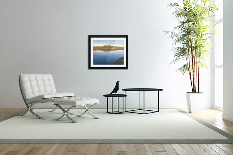 Rowboat on Taunton Lake - Newtown Scenes 16X20 in Custom Picture Frame