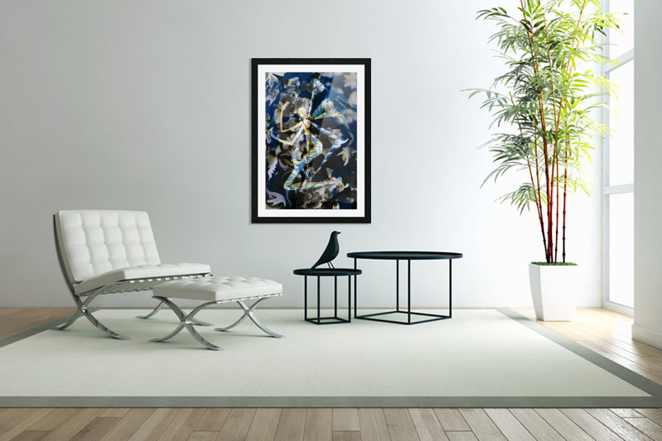abstract winged angel in Custom Picture Frame