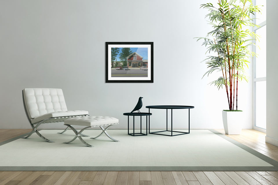 Church House and Store - Newtown Scenes 16X20 in Custom Picture Frame