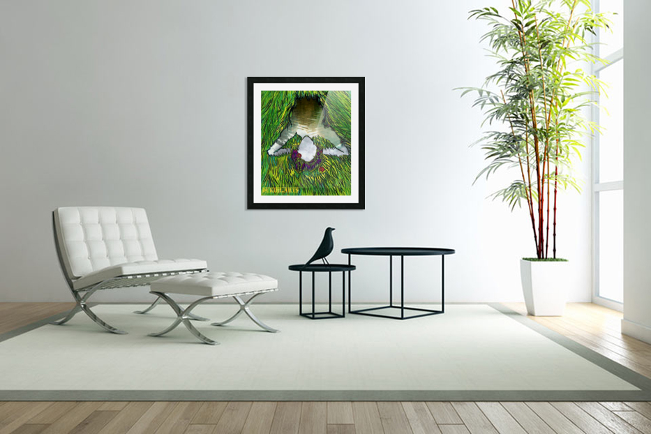 Woman of the Pond in Custom Picture Frame