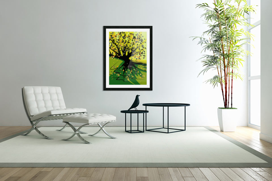 falling leaves in Custom Picture Frame