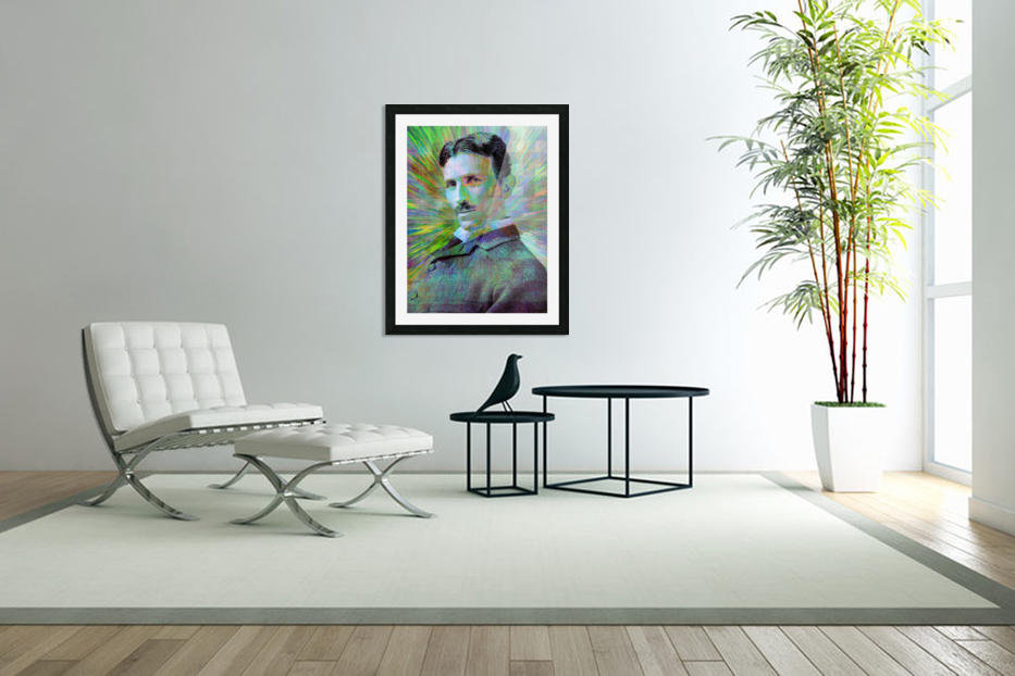 Electric Tesla in Custom Picture Frame