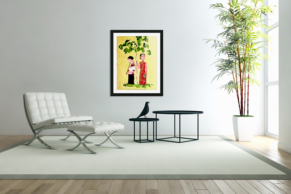 AS - Two Chinese Ladies in Custom Picture Frame