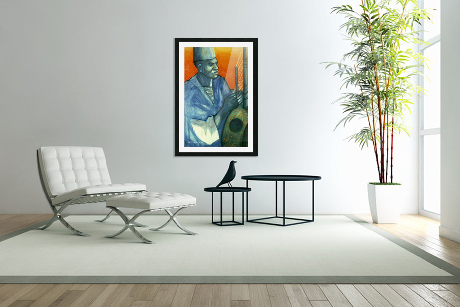 Griot in Custom Picture Frame