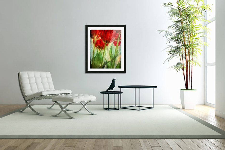 Tulips in Custom Picture Frame