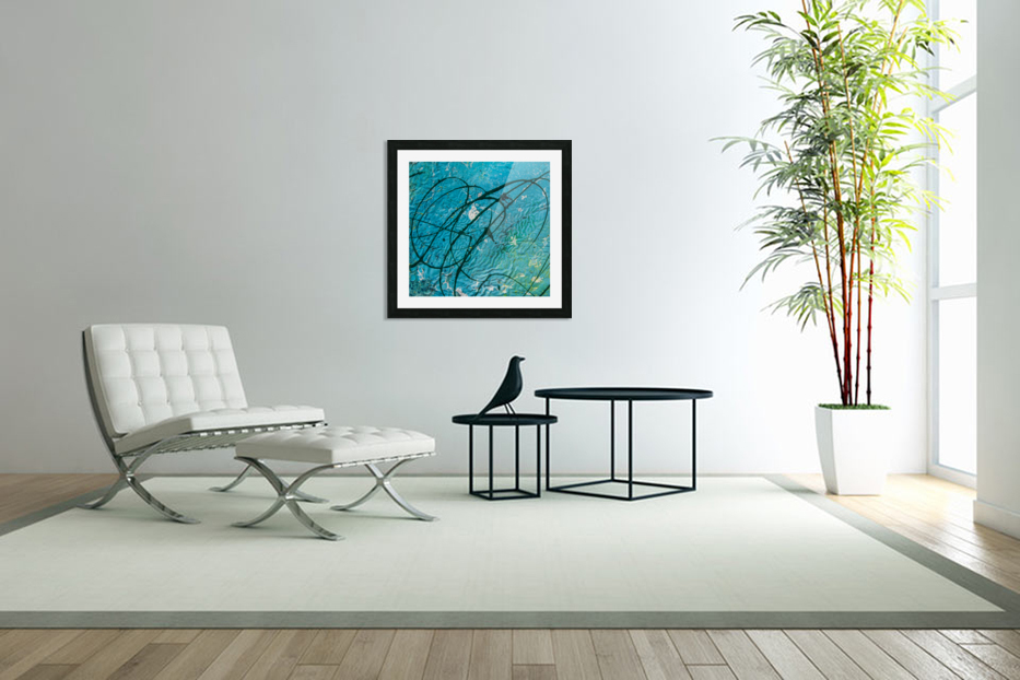 light blue abstract in Custom Picture Frame