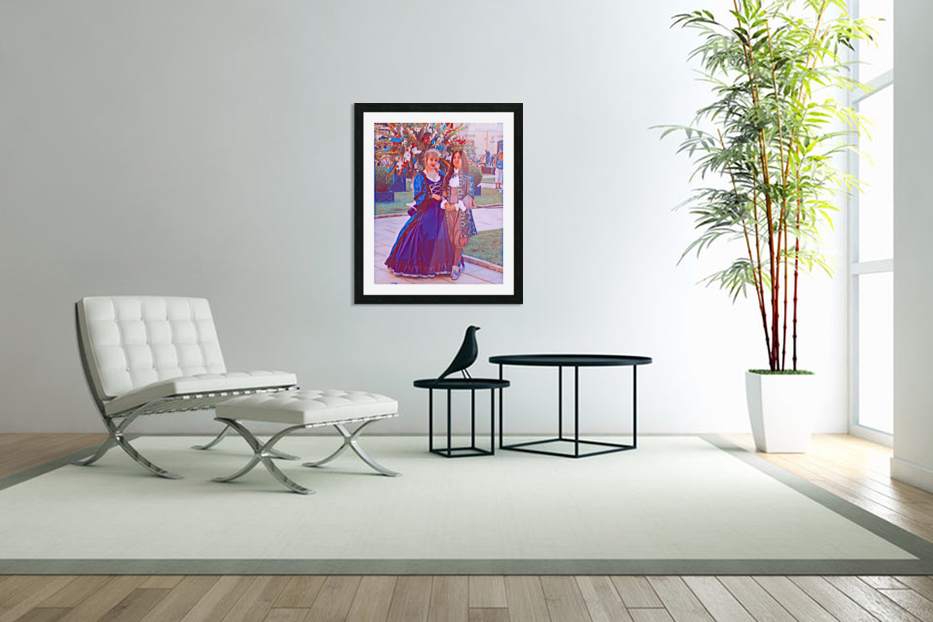 The infant womans partner in Custom Picture Frame