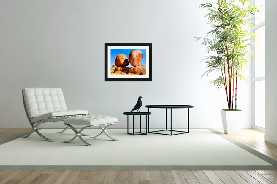 Balance - Devils Marbles in Custom Picture Frame