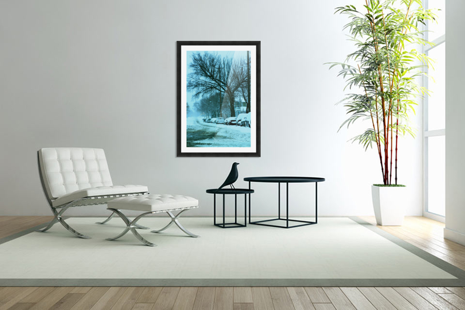 Frost in Custom Picture Frame