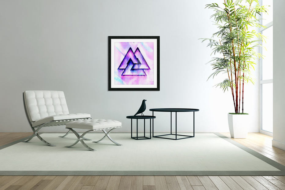 Valknut Light & Colorful in Custom Picture Frame