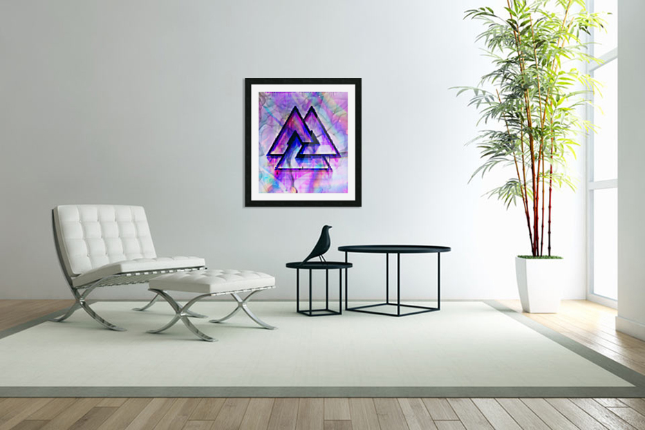 Valknut Colorful in Custom Picture Frame