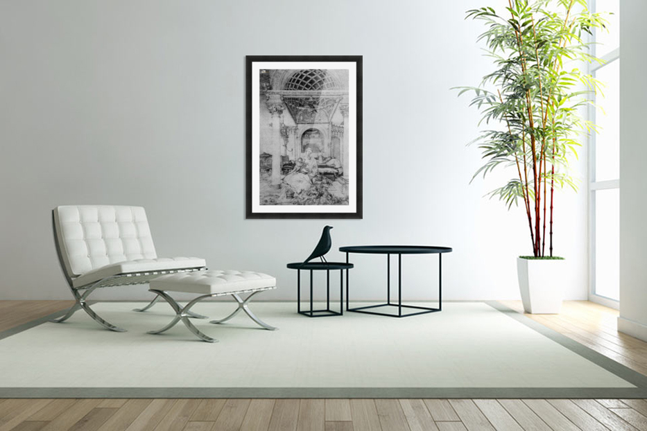 The holy family in a hall in Custom Picture Frame