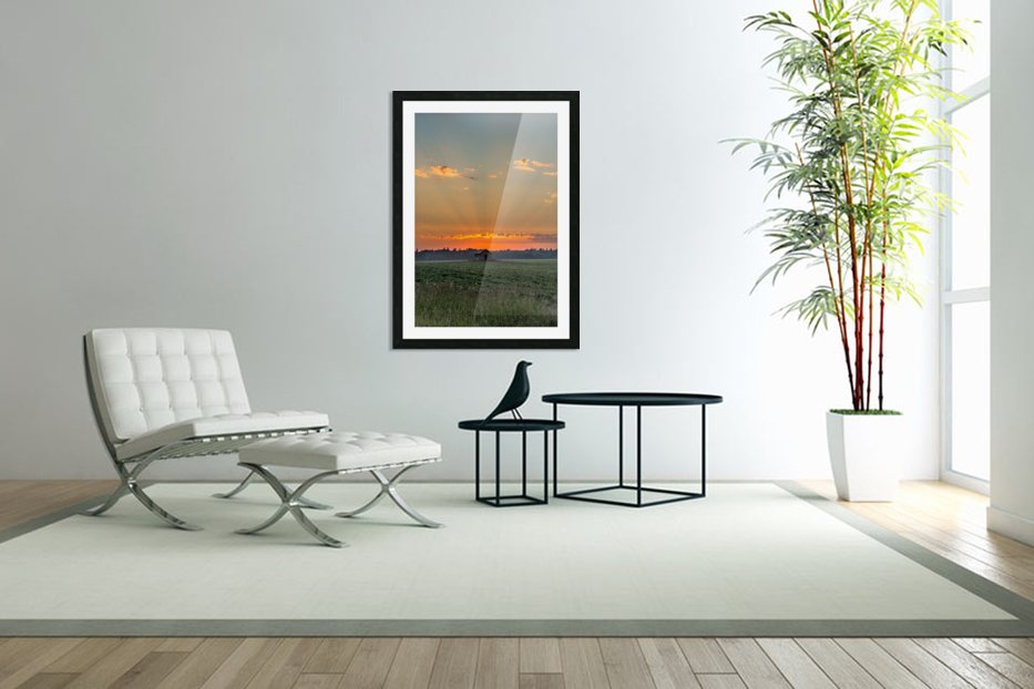 Sunset Hut in Custom Picture Frame