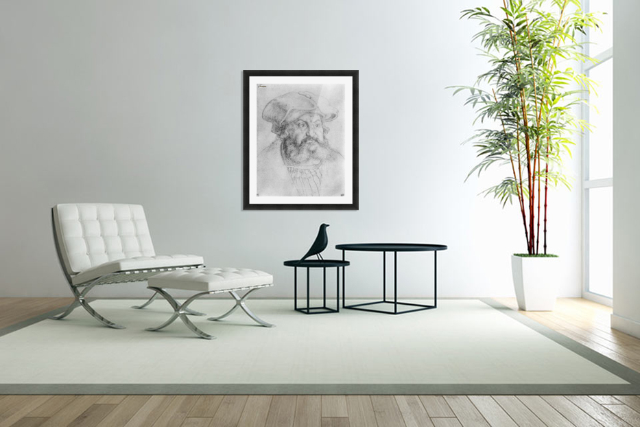 Portrait of Elector Friedrich the Wise in Custom Picture Frame