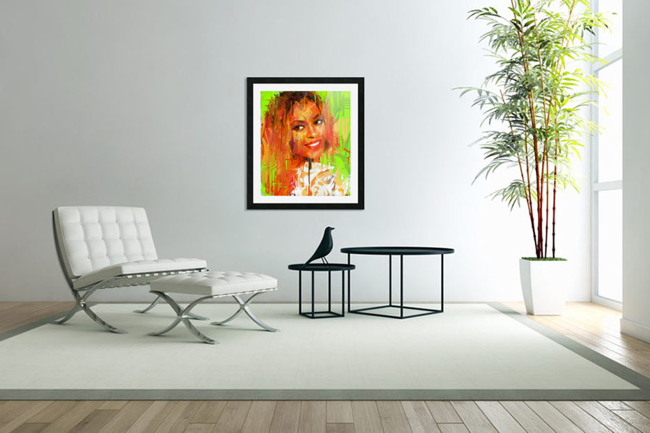 beyonce in Custom Picture Frame