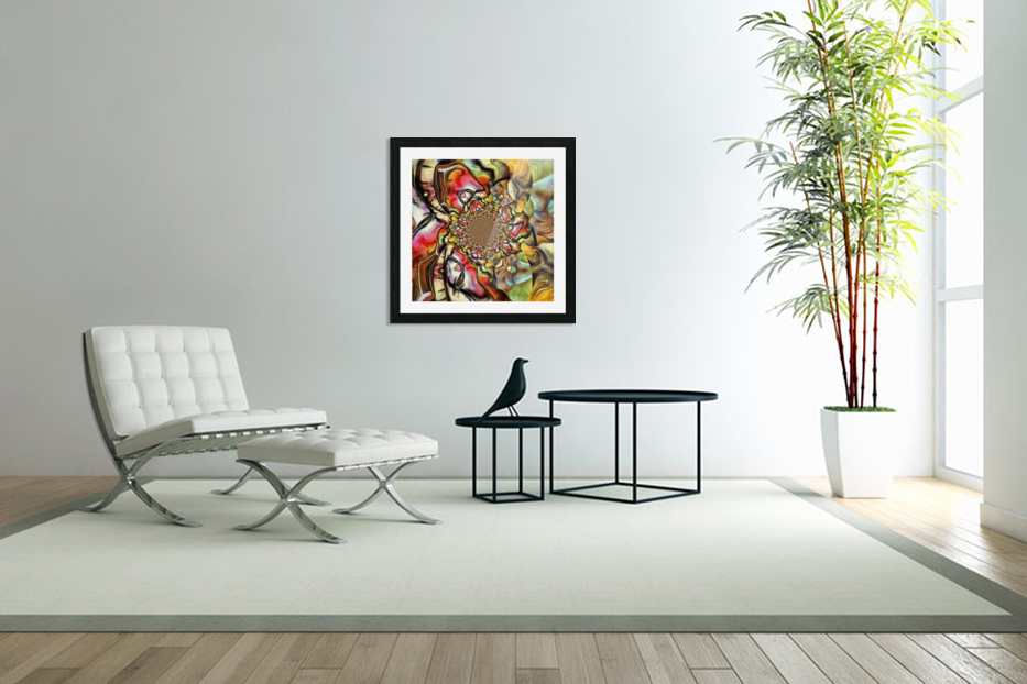 Abstract Fractal in Custom Picture Frame