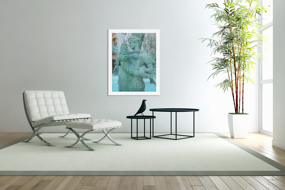 Statue in Custom Picture Frame