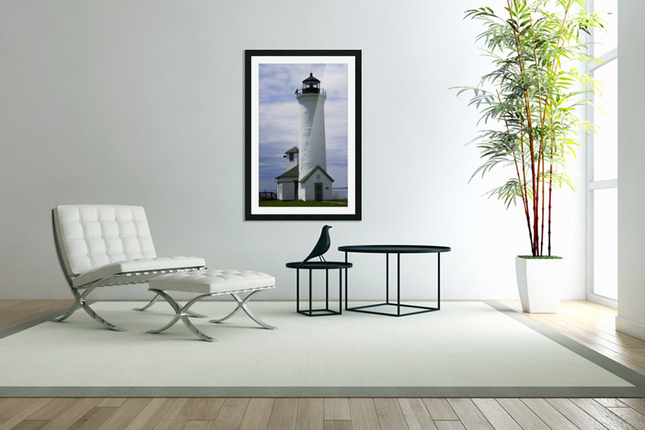 Cape Vincent Lighthouse in Custom Picture Frame